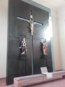 Altarwand Rohstahl